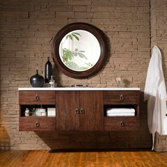 "60"" Sonoma Single Vanity w/ Arctic Fall Top-Coffe Oak"