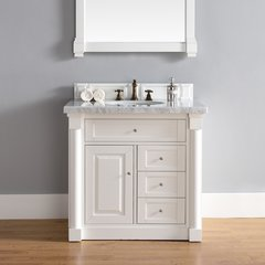 "36"" New Haven Single Vanity w/ Absolute Black Top-Cott White"