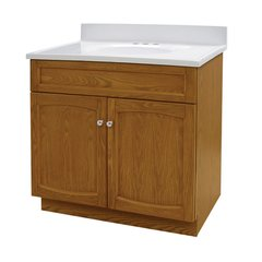 "30"" Heartland Single Sink Bathroom Vanity - Oak"