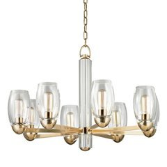 Pamelia 8 Light Chandelier - Aged Brass