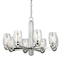 Pamelia 8 Light Chandelier - Polished Nickel