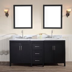 "73"" Hollandale Double Sink Bathroom Vanity - Black"