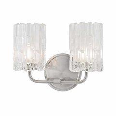 Dexter 2 Light Bathroom Vanity Light - Satin Nickel