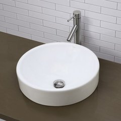 "DECOLAV Raina 17-3/4"" x 17-3/4"" Semi-Recessed Vessel Sink"