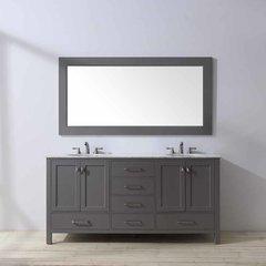 "72"" Malibu Double Vanity - Gray/Carrara White Top"