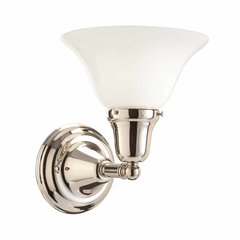 Edison 1 Light Bathroom Sconce - Polished Nickel