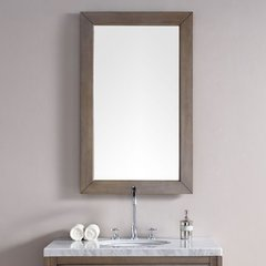 "26"" x 42"" Chicago Wall Mount Mirror - Whitewashed Walnut"