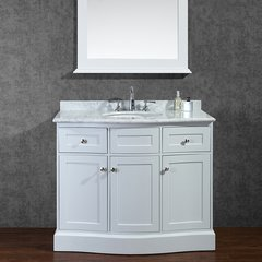 "42"" Seacliff Montauk Single Sink Vanity - Alpine White"