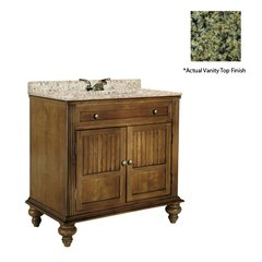 "36"" Barbados Single Sink Vanity w/ Green Top - Brown Cherry"
