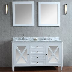 "60"" Seacliff Summit Double Sink Vanity - Alpine White"