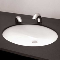 "21"" x 17"" Undermount Bathroom Sink - Cotton White"