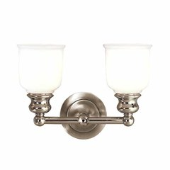 Riverton 2 Light Bathroom Vanity Light - Polished Nickel