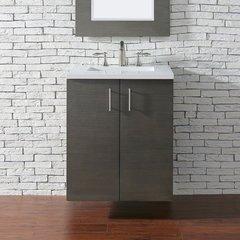"""24"""" Metropolitan Single Vanity Cabinet Only-Silver Oak"""