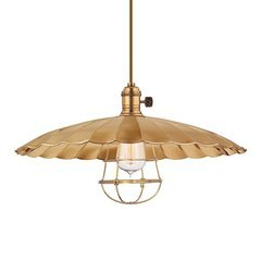 Heirloom 1 Light Pendant - Aged Brass