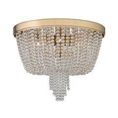 Royalton 4 Light Flush Mount - Aged Brass