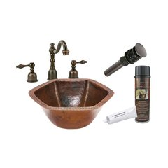 "15"" x 15"" Undermount Sink Package - Oil Rubbed Bronze"