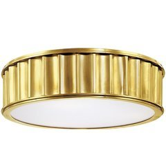 Middlebury 2 Light Flush Mount - Aged Brass