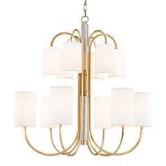 Junius 12 Light Chandelier - Aged Brass