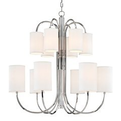 Junius 12 Light Chandelier - Polished Nickel