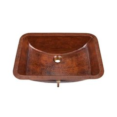 "21"" x 15-1/4"" Limited Edt Undermount Bathroom Sink - Copper"