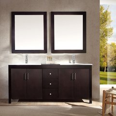 "72"" Hanson Double Sink Bathroom Vanity - Espresso"