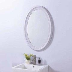 """31"""" x 21"""" Wall Mount Mirror - White"""