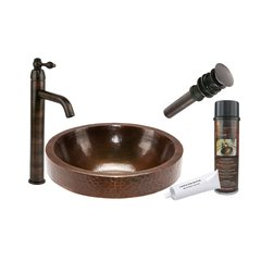 "17"" x 17"" Oval Vessel Sink Package - Oil Rubbed Bronze"