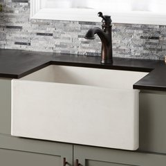 "24"" x 18"" Farmhouse Reversible Kitchen Sink - Pearl"