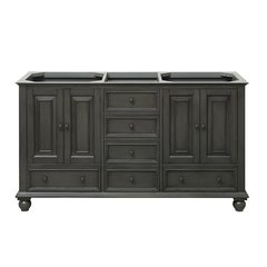 "60"" Thompson Cabinet Only w/o Top - Charcoal Glaze"