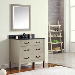"37"" Delano Single Vanity - Taupe Glaze w/ Black Top"