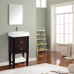 "18"" Kent Single Vanity - Coffee w/ White Top"