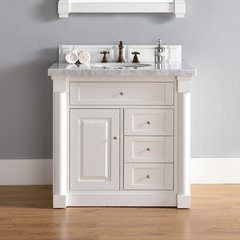 "36"" New Haven Single Vanity w/ Carrara White Top-Cott White"