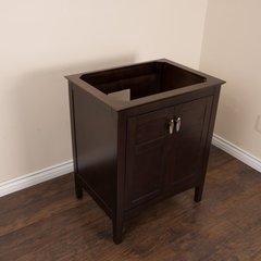 """29"""" Single Sink Cabinet Only w/o Top - Sable Walnut"""