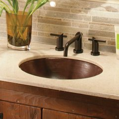 "19"" x 16"" Classic Undermount Bathroom Sink - Antique Copper"