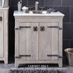 "30"" Americana Single Vanity Cabinet Only w/o Top - Driftwood"