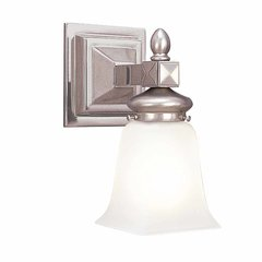 Cumberland 1 Light Bathroom Sconce - Satin Nickel