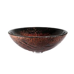 "16"" Lava Vessel Sink w/ Drain - Multicolor/Chrome"