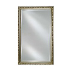 "Basix 16"" Mirrored Medicine Cabinet - Antique Silver"