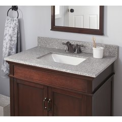 "31"" x 19"" Single Bowl Vanity w/ Trough Basin - Napoli"
