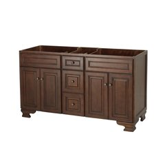 "60"" Hawthorne Cabinet Only w/o Top - Dark Walnut"