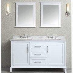 "60"" Seacliff Nantucket Double Sink Vanity - Alpine White"
