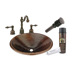 "20"" x 16"" Oval Drop-In Sink Package - Oil Rubbed Bronze"