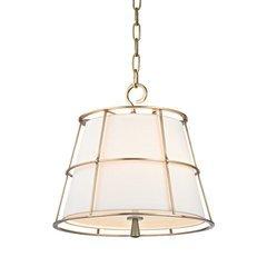 Savona 2 Light Pendant - Aged Brass