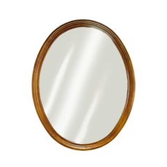 "24"" x 34"" Semi-Circle Wall Mount Mirror - Oak"