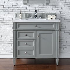 "36"" Brittany Single Vanity w/ Galala Beige Top-Urban Gray"