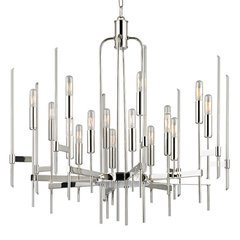Bari 16 Light Chandelier - Polished Nickel