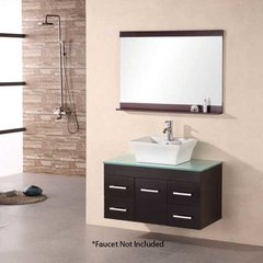 "36"" Portland Single Vessel Sink Bathroom Vanity - Espresso"