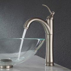 Riviera Vessel Bathroom Faucet - Satin Nickel