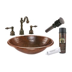 "19"" x 14"" Oval Drop-In Sink Package - Oil Rubbed Bronze"
