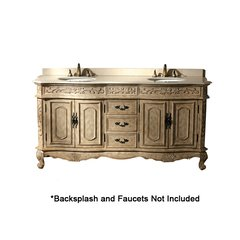 "72"" Naples Double Sink Bathroom Vanity - Antique"